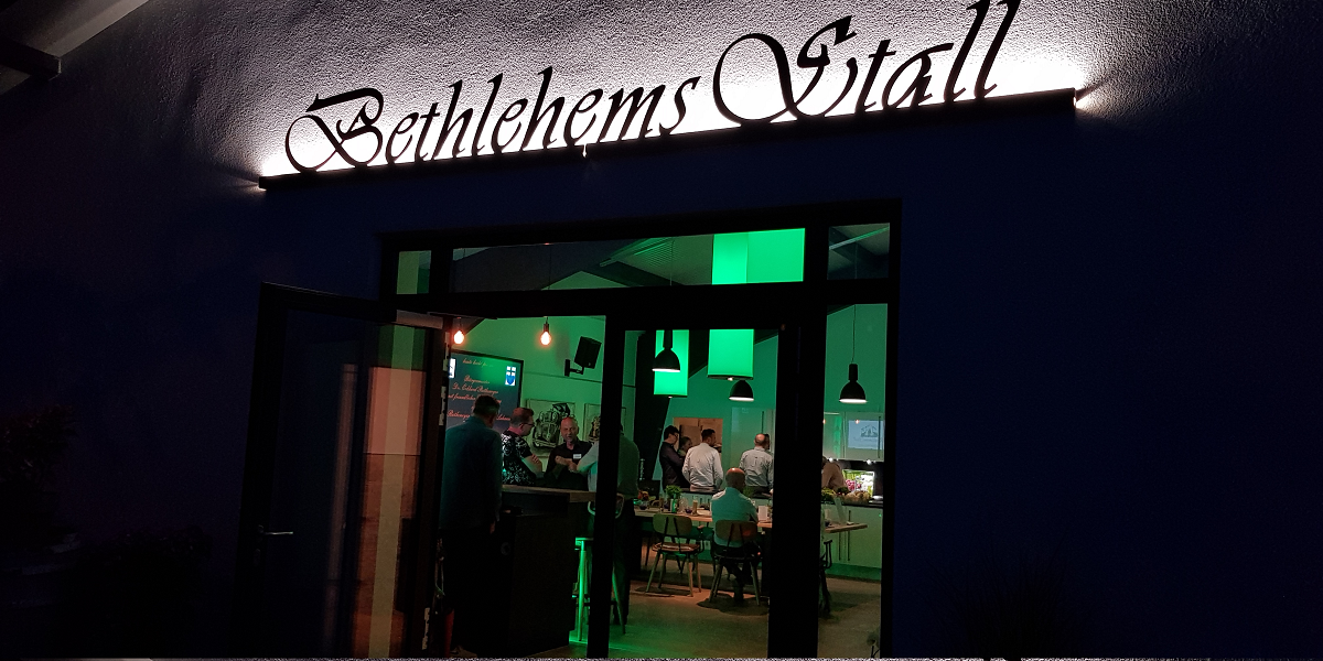 Bethlehems Stall Abendstimmung
